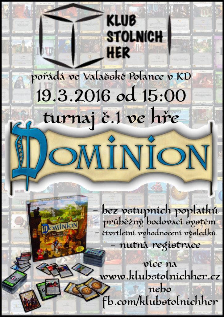 plakát turnaj dominion