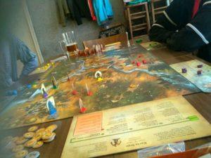 Rozehraná hra Andor na velikonočním deskohraní