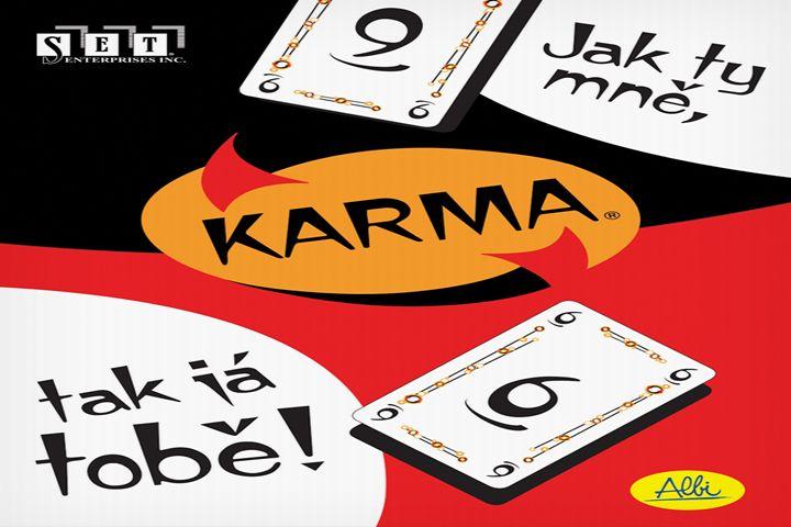 Obal karetní hry Karma