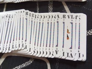 Karty ze hry Quiddler